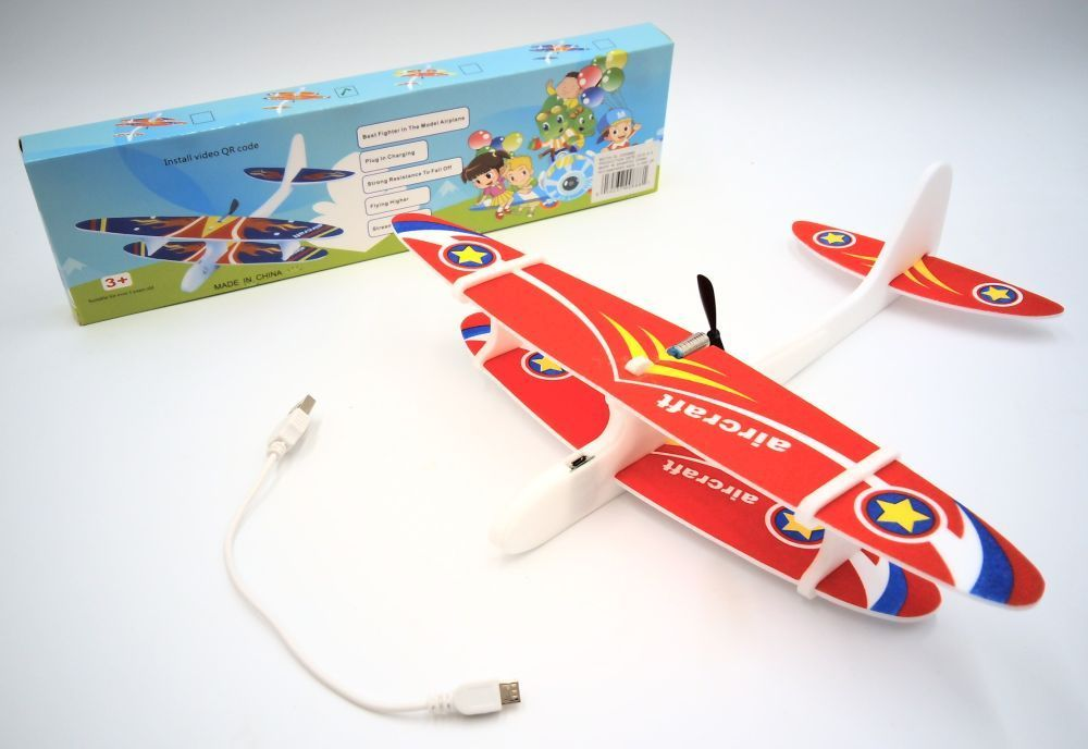 DENTT Free Flight Battery Operated Bi Plane