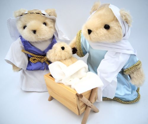 A Teddy Bear Christmas Nativity Set