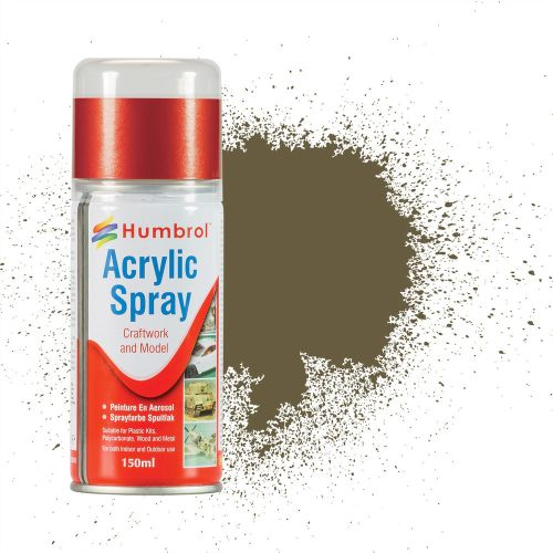 HUMBROL PAINT Light Olive Acylic Hobby Spray Paint 150 Ml - PAINT/ACCESSORY