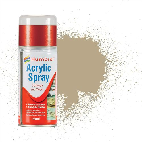 HUMBROL PAINT Desert Tan Acylic Hobby Spray Paint 150 Ml - PAINT/ACCESSORY