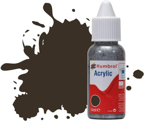 HUMBROL PAINT Service Brown Gloss Acrylic 14ml Paint In Dropper Bottle - PAINT/ACCESSORY