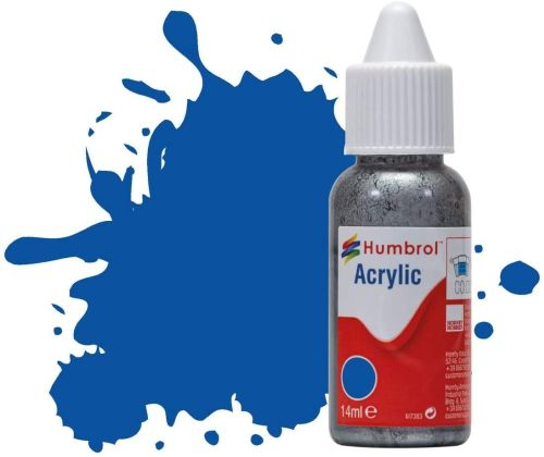 HUMBROL PAINT French Blue Gloss Acrylic 14ml Paint In Dropper Bottle - PAINT/ACCESSORY