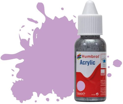 HUMBROL PAINT Pastel Violet Matt 14ml Acrylic Paint In Dropper Bottle - PAINT/ACCESSORY