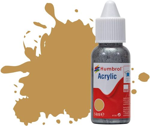 HUMBROL PAINT Desert Yellow 14ml Acrylic Paint In Dropper Bottle - PAINT/ACCESSORY