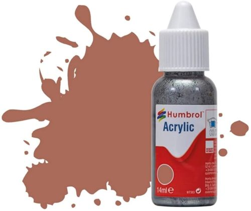 HUMBROL PAINT Rust Matt 14ml Acrylic Paint In Dropper Bottle - PAINT/ACCESSORY