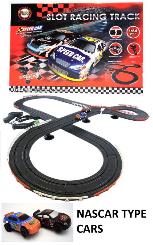 NASCAR STYLE SLOT CAR RACE SET