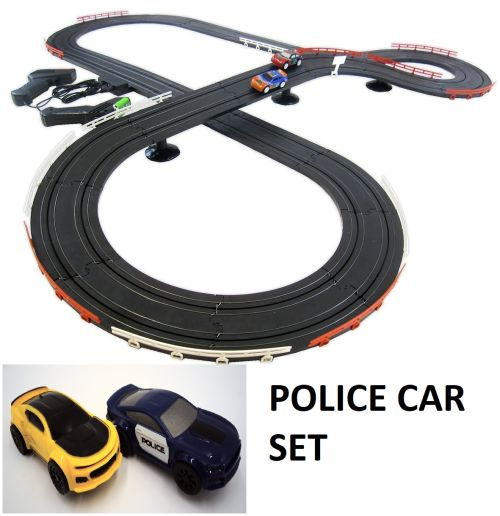 POLICE PURSUIT SLOT CAR SET